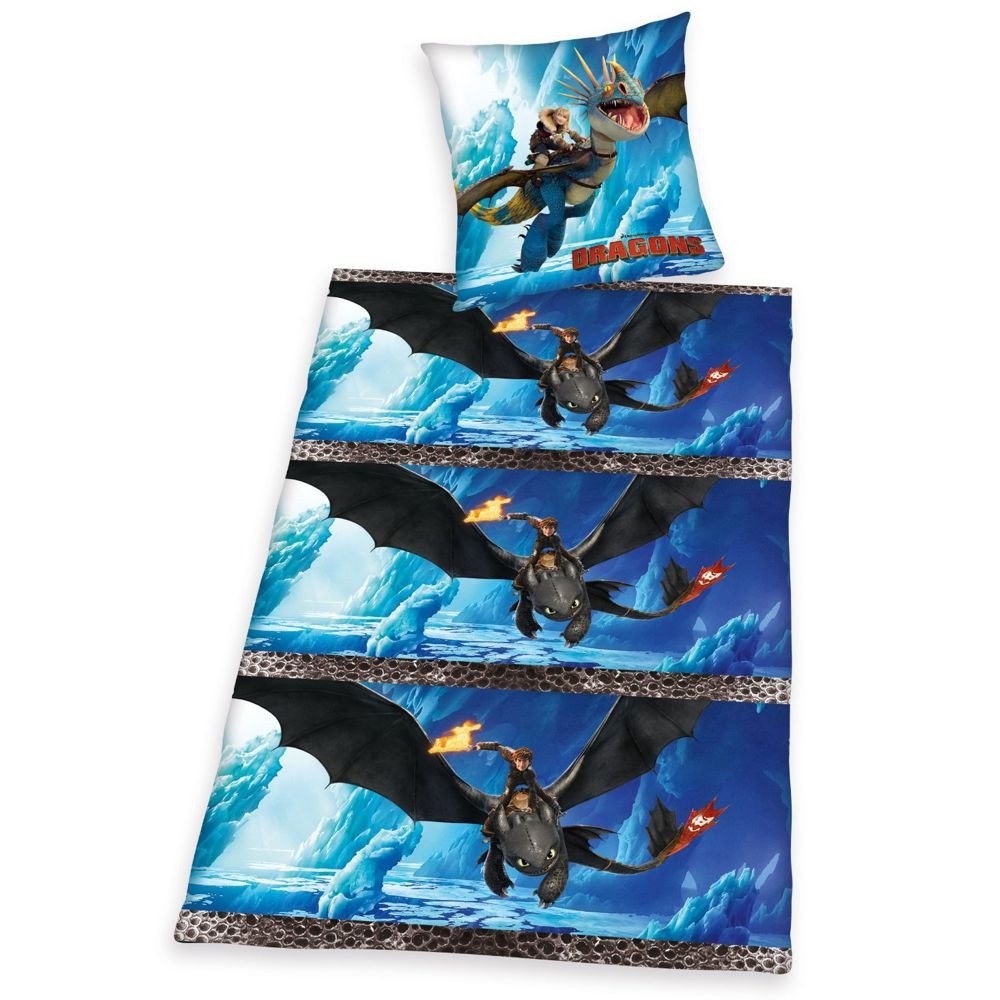 Winter Bettwäsche 135 X 200 Cm Dreamworks Dragons Kinder