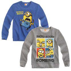 Jungen Sweatshirt | Gr.116-152 | Ich Einfach Unverbesserlich | Minion | Pullover 001