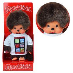 Smartphone-Junge | 20 cm | Monchhichi Puppe | Junge | mit weißem Shirt