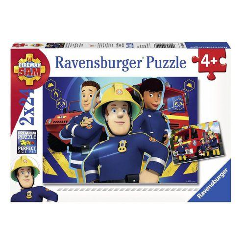 Puzzle Box | 2 x 24 Teile |  Feuerwehrmann Sam |  Ravensburger | Legespiel  – Bild 1