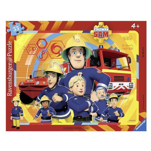 Rahmen- Puzzle | 33 Teile | Feuerwehrmann Sam | Kinder Puzzle | Ravensburger