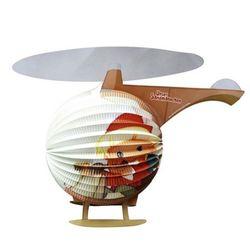 Motiv Laterne | Hubschrauber | 46,0 x 35,0 cm | Sandmann | Kinder Lampion 001