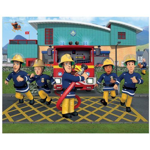 Fototapete | Bild 2,44 x 3,05 m | Feuerwehrmann Sam | Walltastic Wandtapete  – Bild 2
