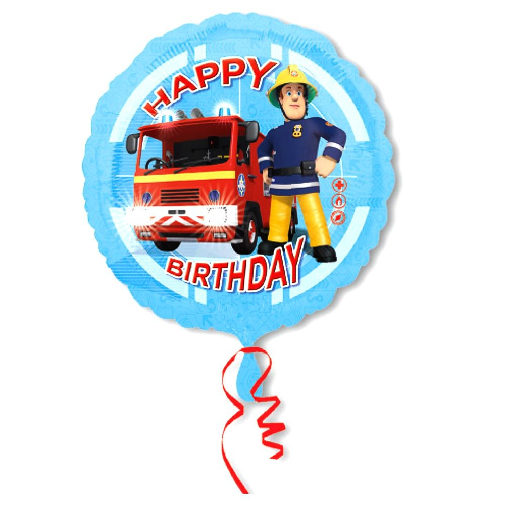 Happy Birthday Folien Ballon 45 Cm Feuerwehrmann Sam Party
