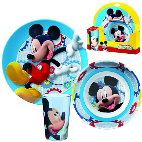 Kinder Frühstück Set | Micky Maus | Mickey Mouse | Melamin Geschirr Set