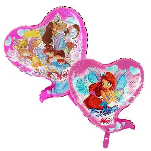 Folien Ballon Herz | Bloomix | Winx Club | Party Kinder Geburtstag | 59 x 69 cm