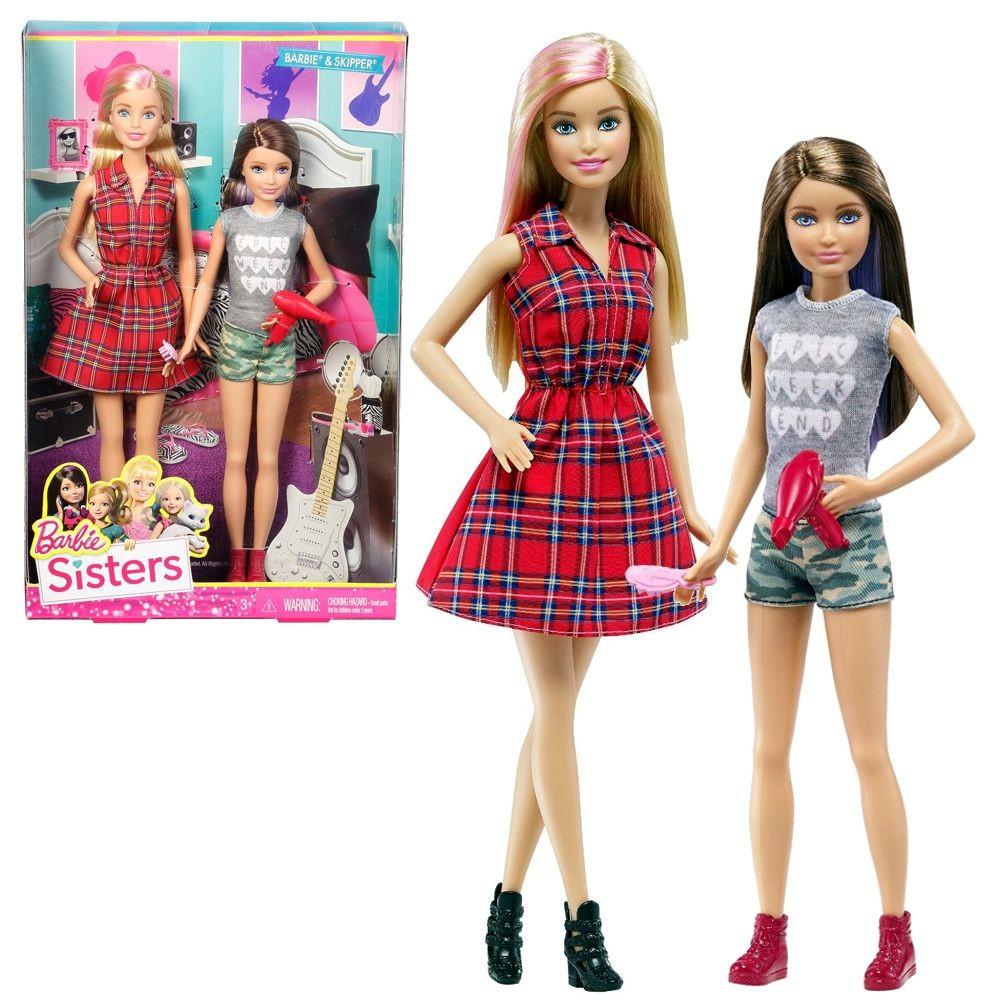 Barbie famiglia 2 pack bambole barbie e le sue sorelline for Bambole barbie