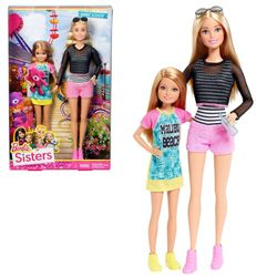 Barbie - Familie 2-er Pack Puppen Schwestern Barbie & Stacie – Bild 1