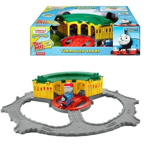 Tidmouth Lokschuppen   Mattel DGK96   Take-n-Play   Thomas & seine Freunde – Bild 1