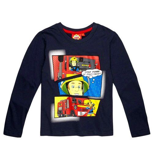 Jungen Langarm Shirt Sam | Größe 98 - 128 | Feuerwehrmann Sam | Kinder Shirt – Bild 2