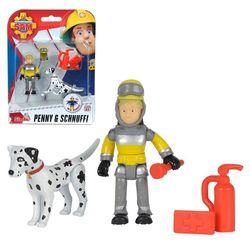 Tierrettung Penny & Schnuffi | Spiel Figuren Set | Feuerwehrmann Sam | Simba