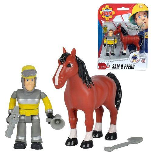 Tierrettung Sam & Pferd | Spiel Figuren Set | Feuerwehrmann Sam | Simba
