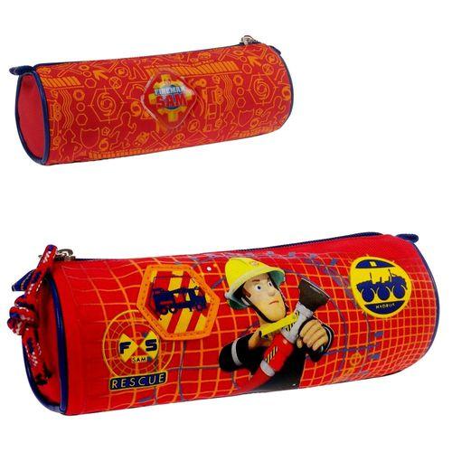 Schlamperetui Rot | Feuerwehrmann Sam | Kinder Stifte Etui | Faulenzer Tasche