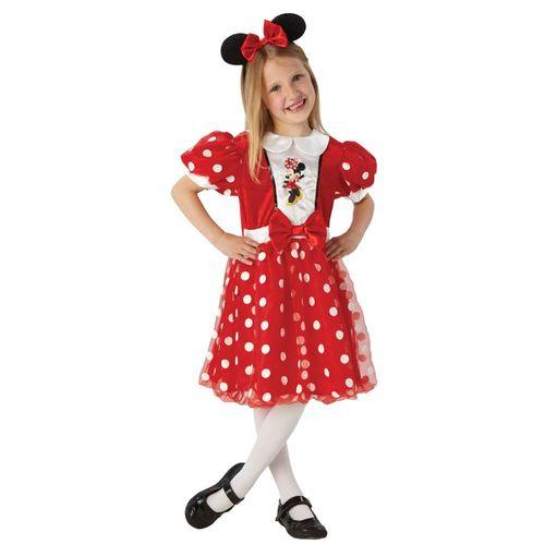 Minnie Maus - Kinder Kostüm Fasching Karneval Glitzer Mouse Gr. 110-134