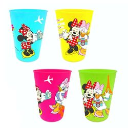 4-er Set Kinder Trink-Becher | Disney Minnie Maus | Mehrwegbecher Mouse 200ml