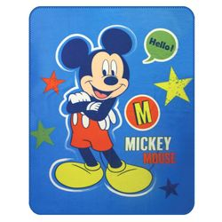Mickey Mouse | Decke Fleece | 110 x 140 cm | Disney Micky Maus | Kuscheldecke 001