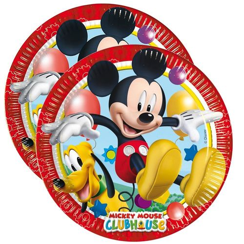 Party-Teller Mickey Mouse | 23 cm | 8 Stück | Micky Maus | Kinder Geburtstag