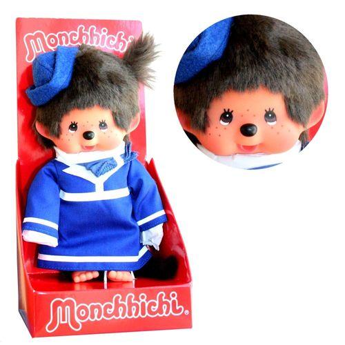 Stewardess | 20 cm | Monchhichi Puppe | Mädchen | Flugbegleiterin mit Kostüm – Bild 1