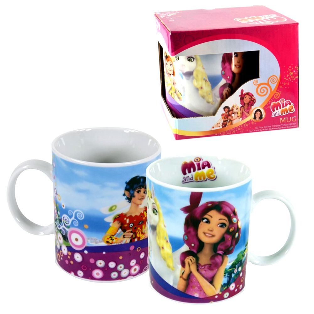 porzellan tasse mia and me 320 ml henkel becher im geschenk karton mia and me kindergeschirr. Black Bedroom Furniture Sets. Home Design Ideas