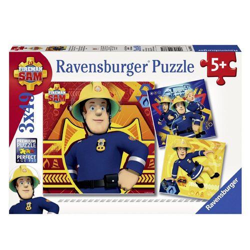 Kinder Puzzle Box | 3 x 49 Teile | Feuerwehrmann Sam | Ravensburger | Legespiel  – Bild 1