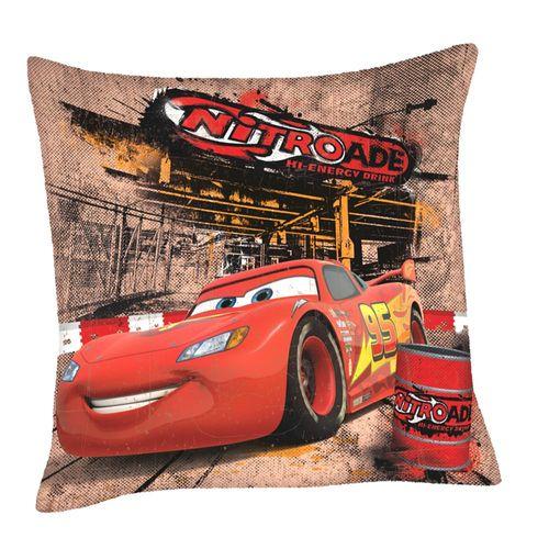 Nitroade | Kinder Kissen 40 x 40 cm | Disney Cars | Kuschelkissen | Dekokissen
