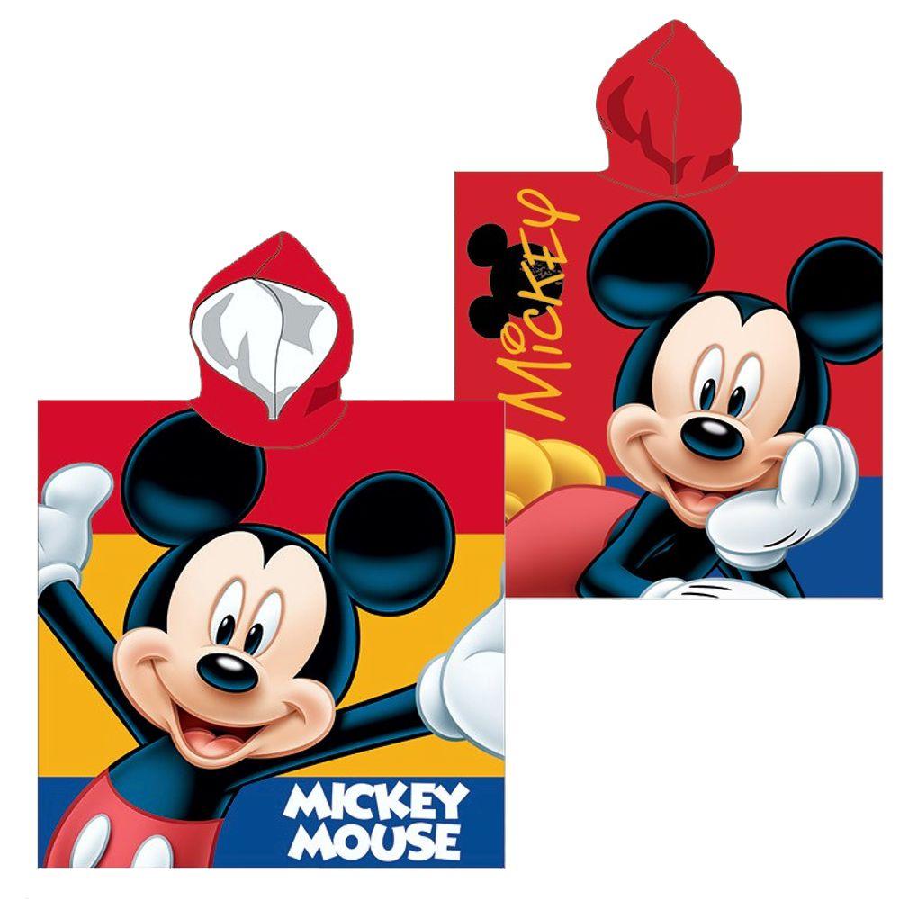 kapuzen poncho mickey mouse 55 x 110 cm disney micky maus badeponcho micky maus freunde. Black Bedroom Furniture Sets. Home Design Ideas