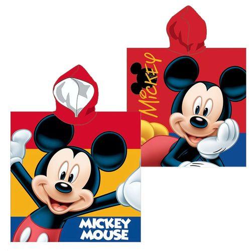 Kapuzen-Poncho Mickey Mouse | 55 x 110 cm | Disney Micky Maus | Badeponcho
