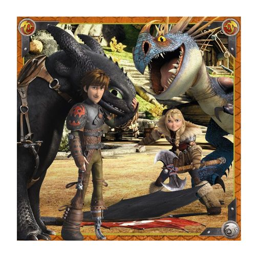 Kinder Puzzle Box | 3 x 49 Teile | DreamWorks Dragons  | Ravensburger – Bild 2
