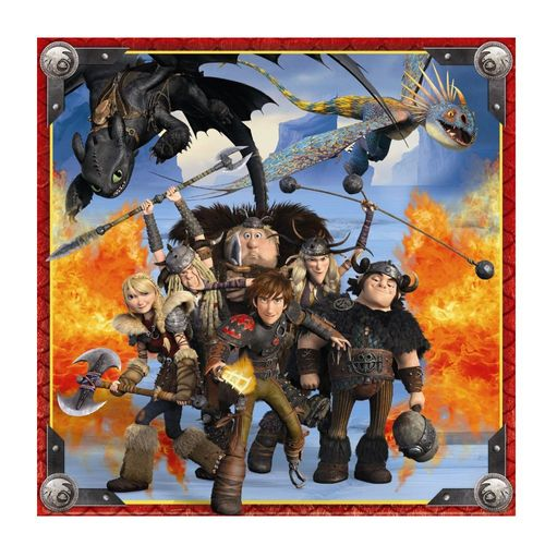 Kinder Puzzle Box | 3 x 49 Teile | DreamWorks Dragons  | Ravensburger – Bild 3