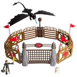 Dragons - Action Spiel Set - Große Trainingsarena - Arena Playset – Bild 2