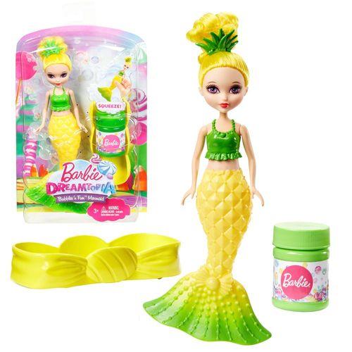 Seifenblasen Meerjungfrau | gelb | Mattel DVM99 | Dreamtopia | Barbie Puppe – Bild 1