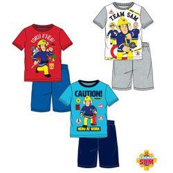 Schlafanzug kurz | Größe 98 - 128 | Feuerwehrmann Sam | Kinder Shorty Pyjama