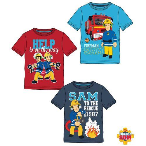 T-Shirt Im Einsatz | Größe 104 - 140 | Feuerwehrmann Sam | Kinder Jungen Shirt – Bild 1