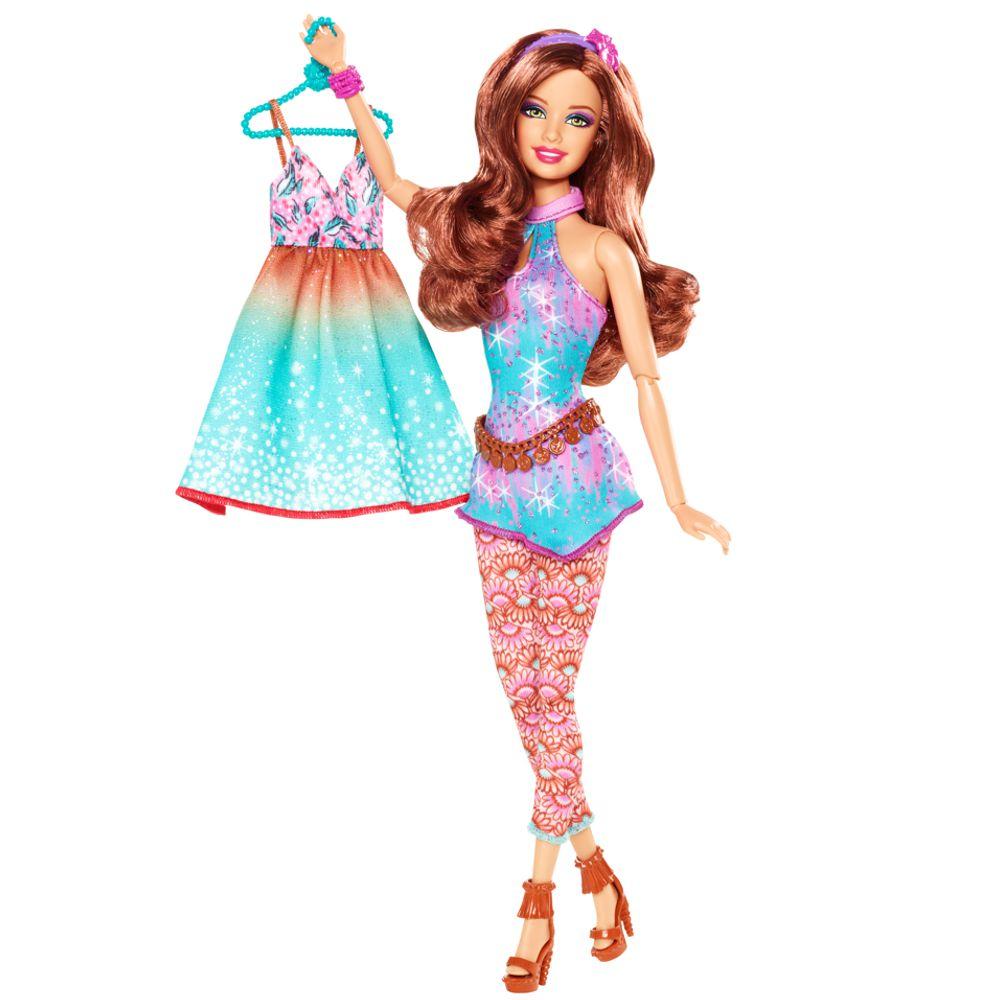 barbie fashionistas mode set mit puppe kleidung schuhen und accessoires ebay. Black Bedroom Furniture Sets. Home Design Ideas