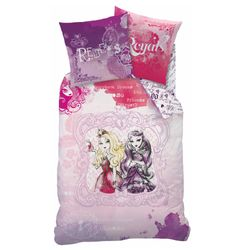 Ever After High - Kinder Wende Bettwäsche - Linon Reißverschluss Versus 135/200cm