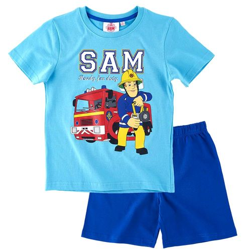 Schlafanzug kurz | Größe 92 - 140 | Feuerwehrmann Sam | Kinder Shorty Pyjama – Bild 4