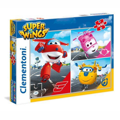 Puzzle | 3x48 Teile | Super Wings | Clementoni | Jett & Freunde | Legespiel – Bild 1