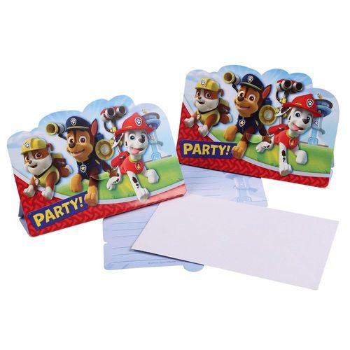 Einladungskarten | 8 Stück | Paw Patrol | Kinder Party Geburtstag