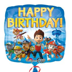 Happy Birthday | Folien Ballon 43 cm | Paw Patrol | Kinder Party Geburtstag