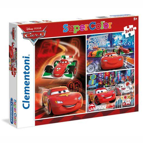 Puzzle | 3x48 Teile | Disney Cars | Clementoni | Lightning McQueen & Freunde – Bild 1