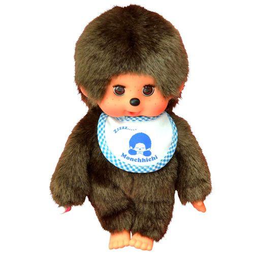 Schlafaugen-Junge | 20 cm | Monchhichi Puppe | Junge | mit blauem Latz – Bild 2