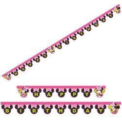 Glückwunsch Kette Mouse | Banner 2,00 m | Minnie Maus | Kinder Party Geburtstag