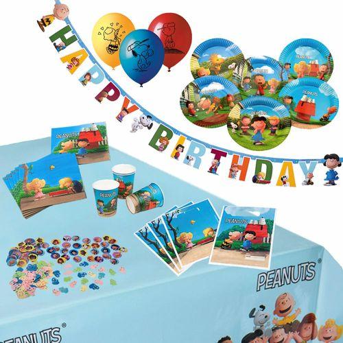 Set-Partykoffer | 46 Teile |  Kinder XXL Party Geburtstag | Die Peanuts