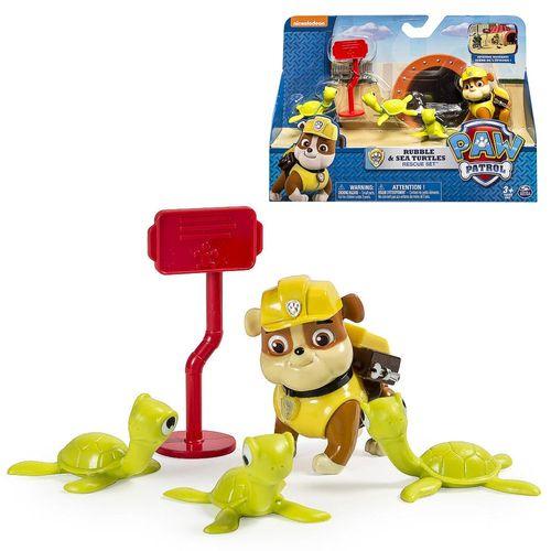 Rubble & Meeresschildkröten   Paw Patrol   Set Spiel Figuren   Aktion Pack