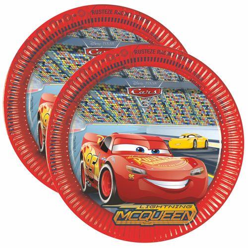 Party-Teller Race | 23 cm | 8 Stück | Disney Cars | Kinder Geburtstag