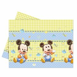 Tischdecke Baby | Tischtuch 120 x 180 cm | Micky Maus | Party | Mickey Mouse