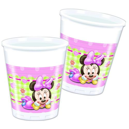Set Party | Einweg-Geschirr Baby Mouse | Minnie Maus | Teller Becher Servietten – Bild 4