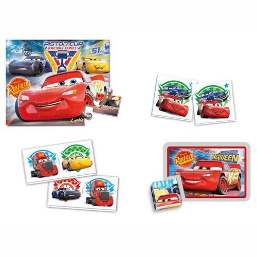 Puzzle & Spiele | 4 in 1 Box | Disney Cars 3 | Kinder Spielesammlung – Bild 2