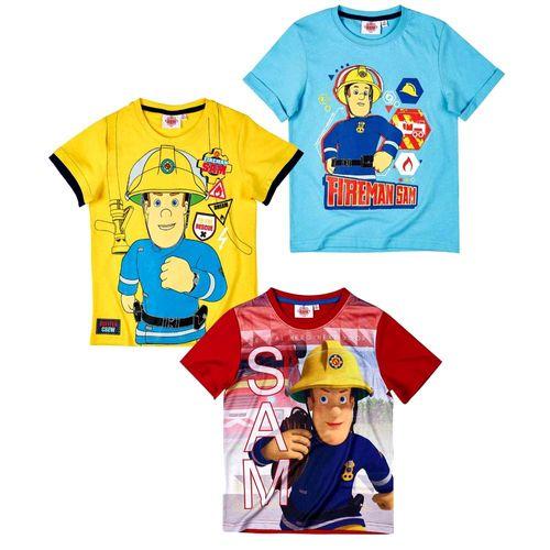 T-Shirt To Rescue | Größe 98 - 128 | Feuerwehrmann Sam | Kinder Jungen Shirt – Bild 1