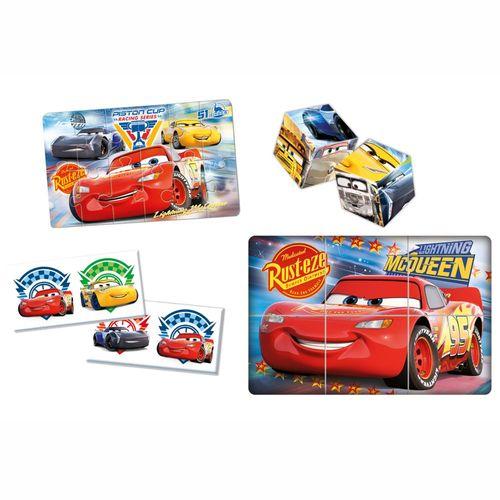 Spiele & Puzzle Sammlung | 3 in 1 | Disney Cars 3 | Familien-Spiel | Clementoni – Bild 2